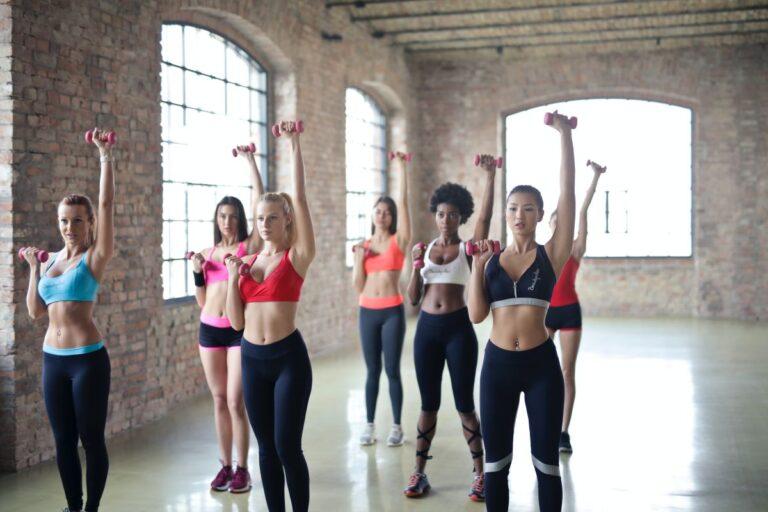 ćwiczenia anoreksja kilka kobiet w grupie